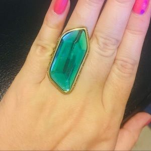 Green Gemstone Unique Ring